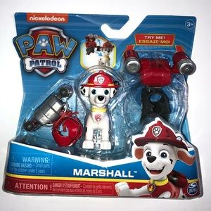 Paw Patrol Marshall action figure w/ 2 clip-ons